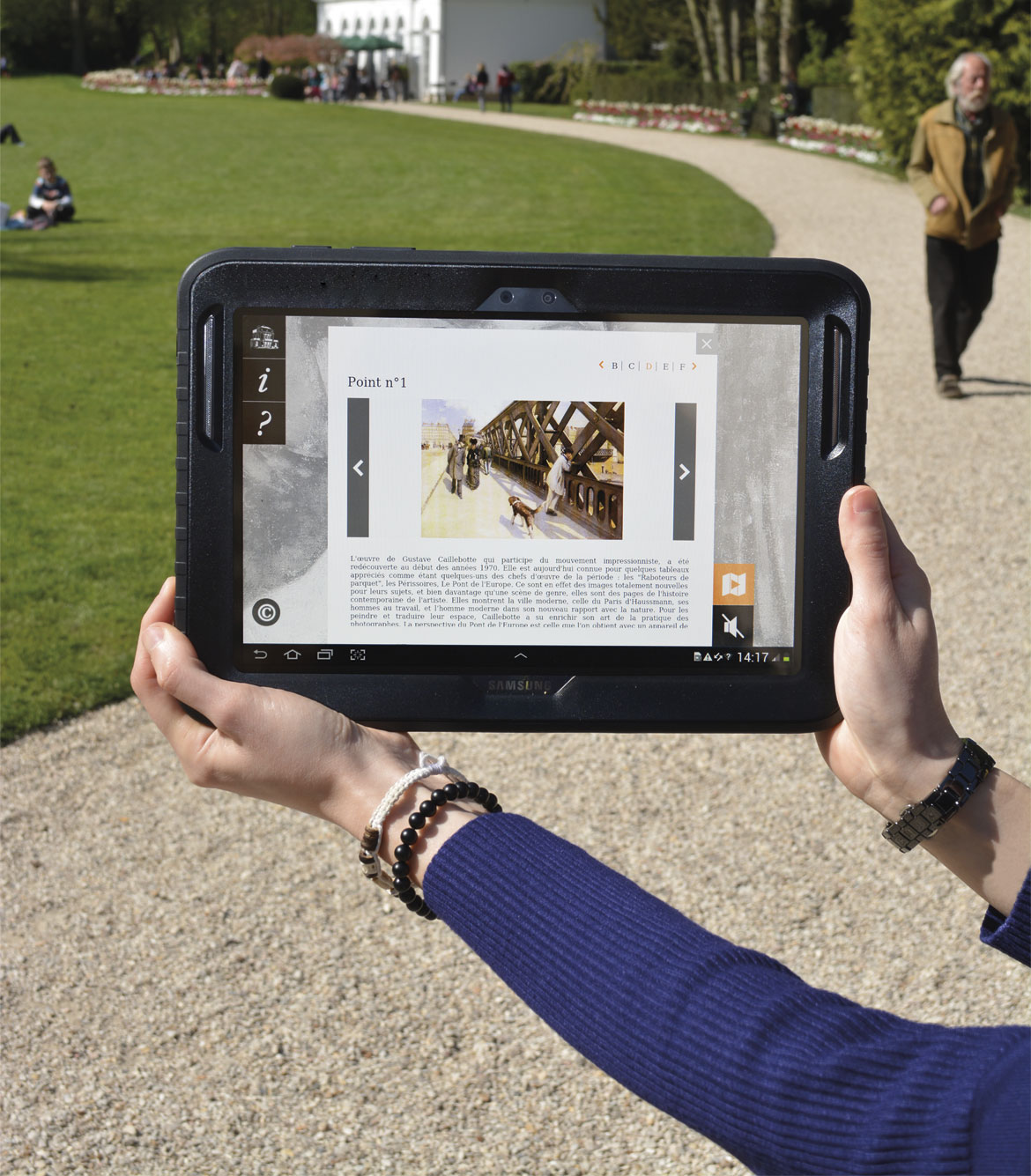 """Photomontage pour le flyer """"parcours numérique Caillebotte"""""""